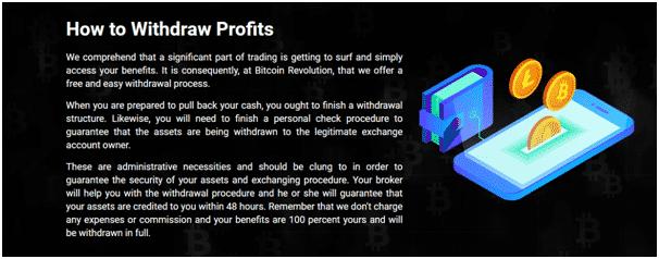 Bitcoin Revolution Reviews - Withdrawal Process
