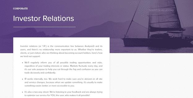 AnalystQ - Investor Relations