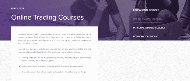 AnalystQ - Online trading courses offered by the Platform